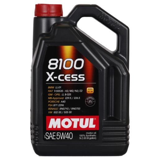 MOTUL 8100 X-CLEAN 5W-40, 5L